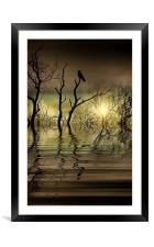 Twilight reflected, Framed Mounted Print