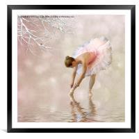 Dancer in water, Framed Mounted Print