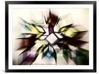 Blast, Framed Mounted Print