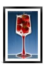 Sparkling Strawberry Champagne, Framed Mounted Print