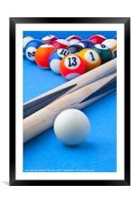 Pool Balls, Framed Mounted Print