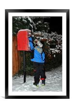 Santas Letter Posted, Framed Mounted Print
