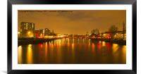 Red & Gold Reflection, Framed Mounted Print