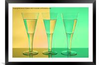 Coloured Glasses, Framed Mounted Print