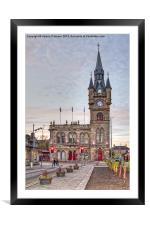 Renfrew Town Hall, Framed Mounted Print