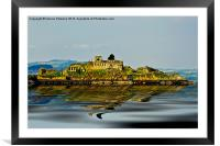 Isolated Inchgarvie Island, Framed Mounted Print