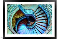 Swirl Staircase, Framed Mounted Print