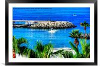 Costa Adeje Harbour, Framed Mounted Print