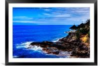 Cliff Edge Restaurant, Framed Mounted Print