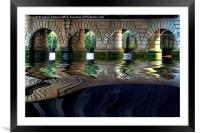 Under Glasgow Bridge, Framed Mounted Print