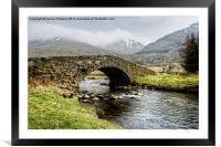 Bridge near Kinglass, Framed Mounted Print