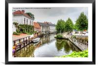 Town Canal, Framed Mounted Print