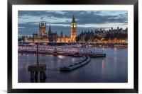 Westminster London, Framed Mounted Print