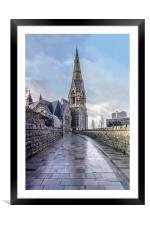 Trinity Church Irvine, Framed Mounted Print