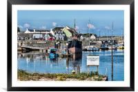 Boats at Irvine Harbour, Framed Mounted Print