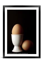 Brown Eggs in Egg Cup, Framed Mounted Print