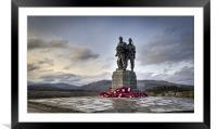 Commando Memorial, Spean Bridge, Framed Mounted Print