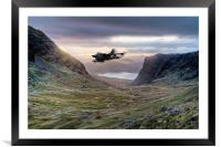 Low flying Tornado jet, Framed Mounted Print