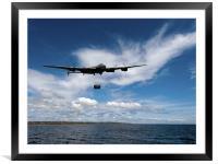 Lancaster releasing Upkeep, Framed Mounted Print