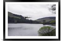 Dambusters Lancaster at the Derwent Dam, Framed Mounted Print