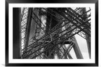 Forth Rail Bridge girders black and white version, Framed Mounted Print