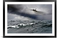 Avro Vulcan Black Buck One Atlantic attack run, Framed Mounted Print
