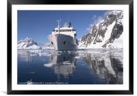 Akademik Ioffe at Petermann, Antarctica, Framed Mounted Print