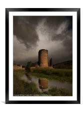 Tretower Storm, Framed Mounted Print