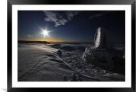 Trig Point, Hay Bluff, Framed Mounted Print