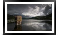 Talybont reservoir, Framed Mounted Print
