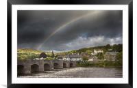 Crickhowell Rainbow, Framed Mounted Print