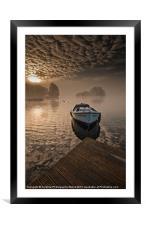 Llangorse Lake misty dawn, Framed Mounted Print