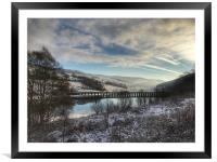 A snow covered Derwent Edge in Derbyshire., Framed Mounted Print