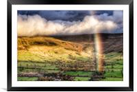 Rainbow over Edale., Framed Mounted Print
