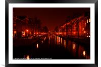 Canals of the Night, Framed Mounted Print