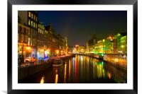 The colors of Singel, Framed Mounted Print
