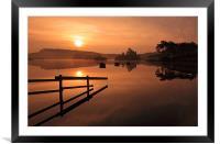 Knapps Loch Sunrise, Framed Mounted Print