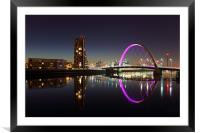 Glasgow Clyde Arc Bridge, Framed Mounted Print