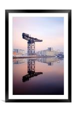 Glasgow Finnieston crane reflection, Framed Mounted Print