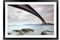 Road Bridge Rocks, Framed Mounted Print