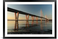 Queensferry Crossing at Sunset, Framed Mounted Print