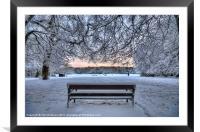 Snow, Highgate Wood, Framed Mounted Print