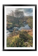Black Tor Waterfall, Framed Mounted Print