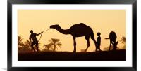 Nile Silhouette, Framed Mounted Print
