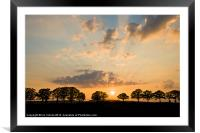 Little Marcle Sunset, Framed Mounted Print