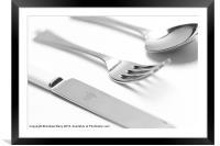 Knife Fork Spoon, Framed Mounted Print