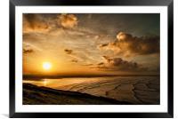 Saunton Sands, Framed Mounted Print