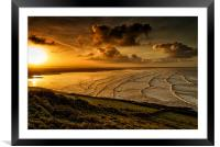 Surfer Sunrise, Framed Mounted Print