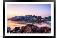 Lee Bay Sunrise, Framed Mounted Print