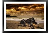 Putsborough Sands, Framed Mounted Print